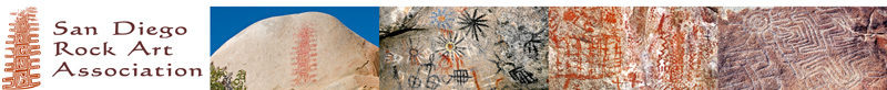 San Diego Rock Art Association masthead